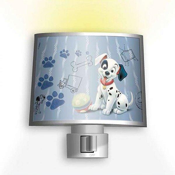 Mini Abajur Iluminador Noturno Disney 101 Dálmatas 110v
