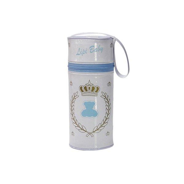 Porta Mamadeira Protetor Térmico Isopor Até 360 ml Azul