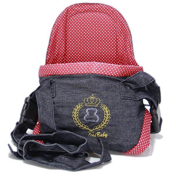Canguru Cadeirinha Carregador Bebê Lux Baby Bag Até 15kg Vermelho