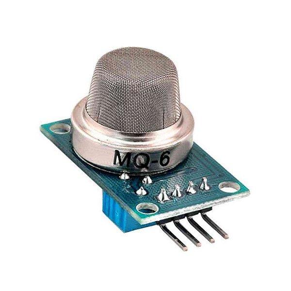 Sensor de Gás GLP Isobutano Propano -  MQ-6