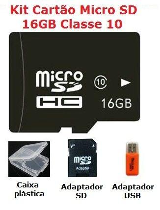 Cartão Micro SD 16GB - Classe 10