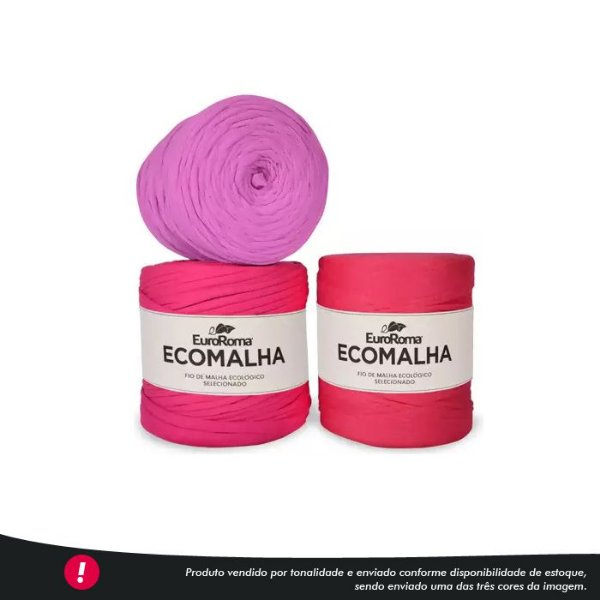 Fio de Malha Ecomalha Euroroma - Tons de pink