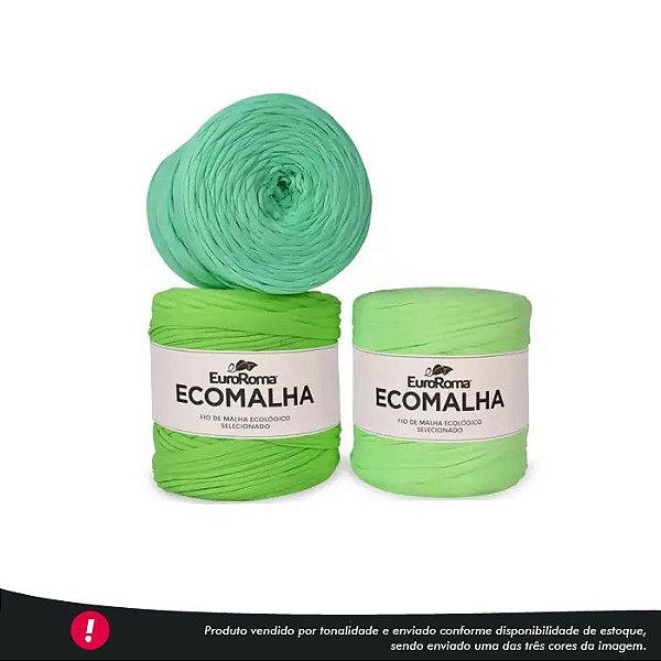 Fio de Malha Ecomalha Euroroma - Tons de verde claro