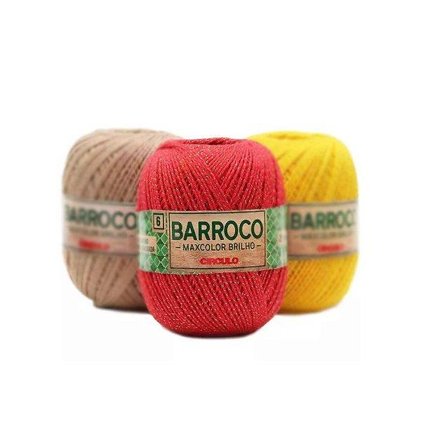 Barbante Barroco Maxcolor Brilho 200g