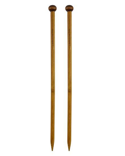 Agulha de tricô bambu