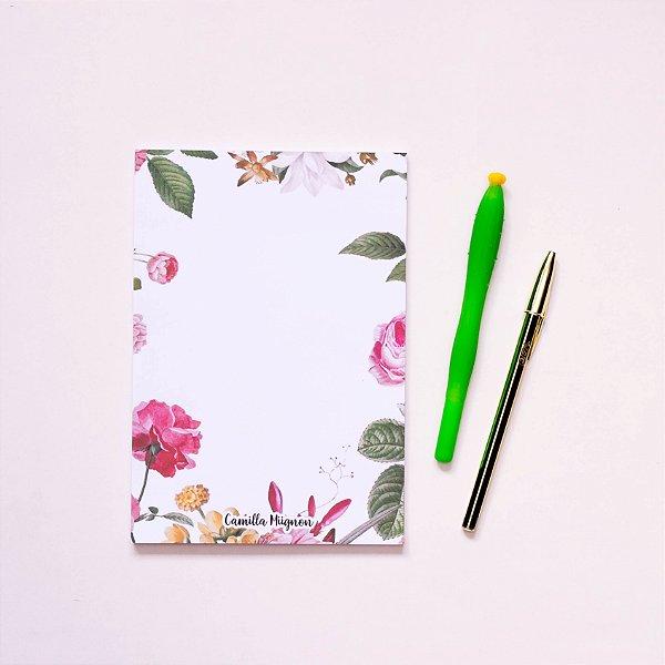 Bloco de notas - Flores