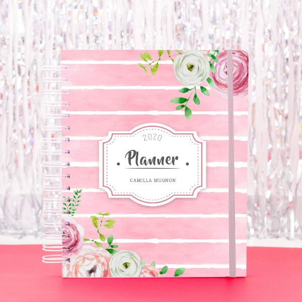 Planner Colorido 2020 - Rosa Floral