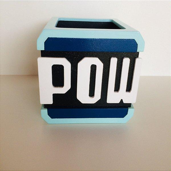 Porta Lápis Block Pow - Super Mario