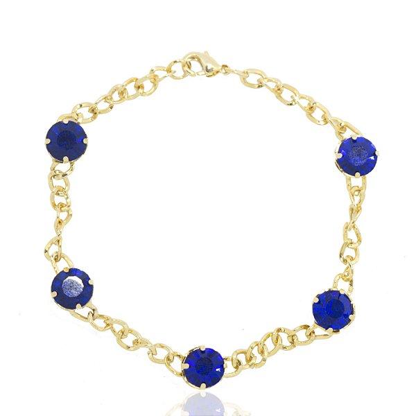 Pulseiras Strass Azul Royal
