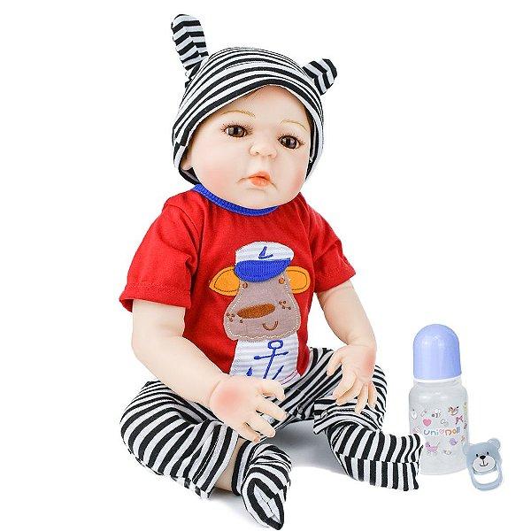 Leo Marinheiro- Bebê Reborn Menino 48cm