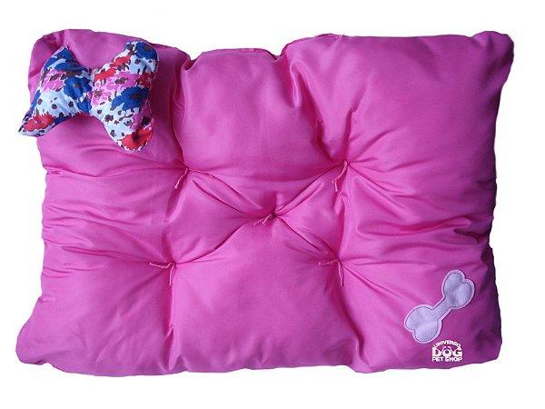 Almofada Caminha Rosa para Cachorro e Gato - 65 cm x 45 cm