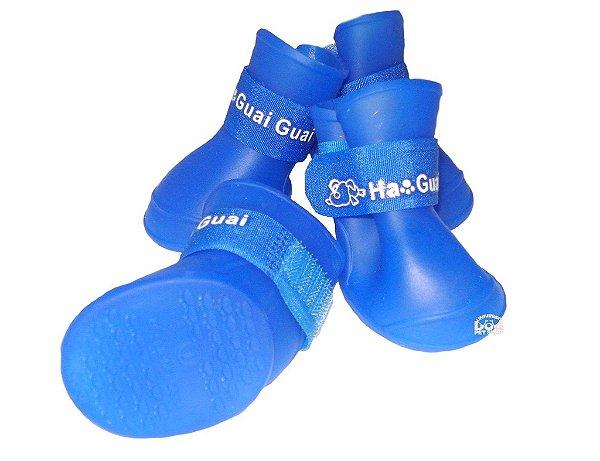 Sapato de Cachorro Fashion Azul de Silicone