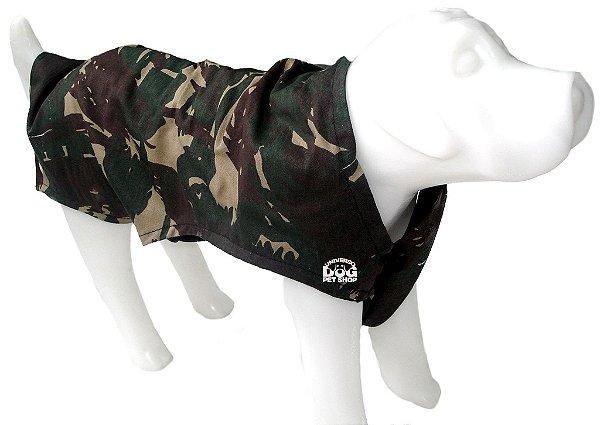 Roupa de Cachorro Estampa Militar