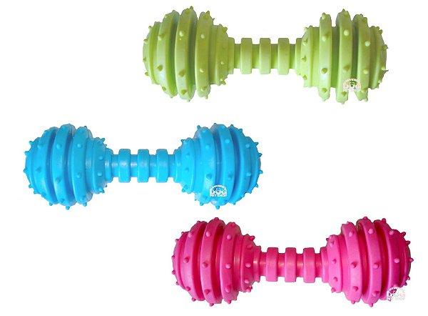 Brinquedo de Cachorro Halteres de Borracha com Guizo