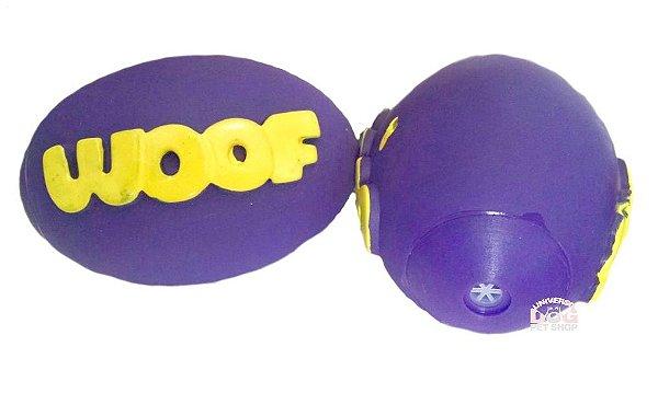Brinquedo de Cachorro Bola de Futebol Americano Woof com Apito