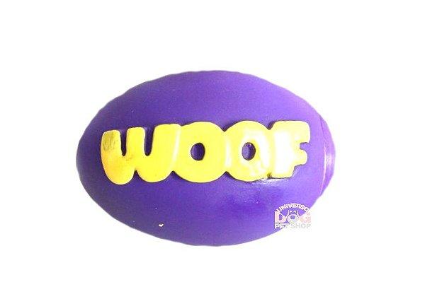 Bola de Futebol Americano Woof com Apito