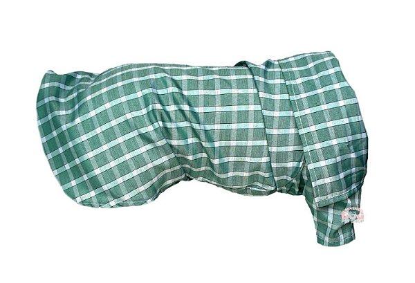 Roupa de Cachorro - Camisa Social Verde - Peso: 500g a 8,5 Kg