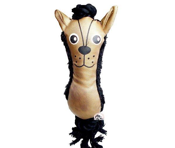 Brinquedo de Cachorro de Pelúcia Dark com Apito