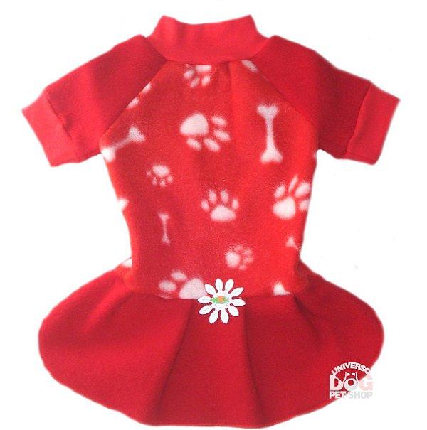 Vestido para Cachorra Vermelho de Soft Vermelho