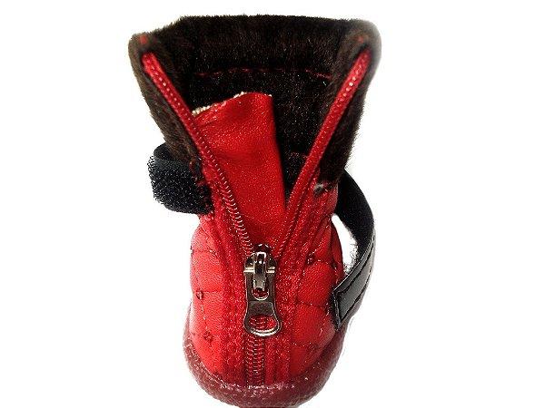 Sapato de Cachorro Botinha Pet Paetê em Courino
