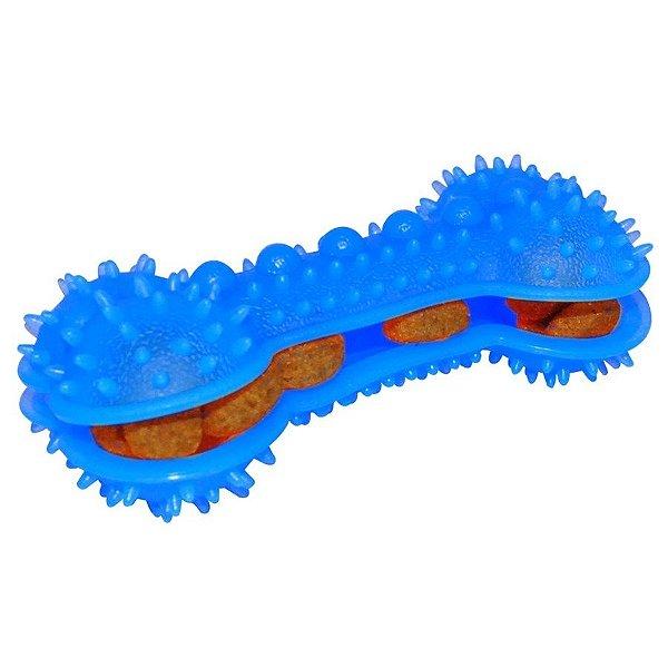 Brinquedo Pet Osso Spike para Cães (com suporte para ração)