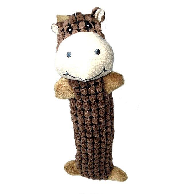 Brinquedo de Cachorro Cavalo de Pelúcia Marrom