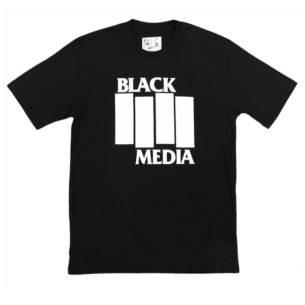 Camiseta - Black Media Flag Preta