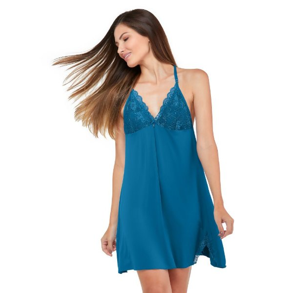 Camisola Floral Lace Azul Acqua