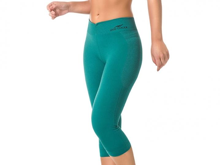Calça Corsário Fitness Sem Costura Verde