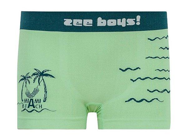 Cueca Boxer Infantil Miami Beach Verde
