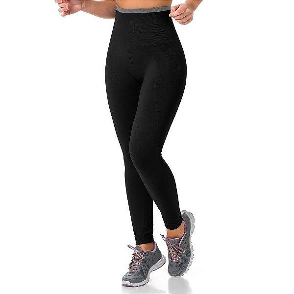 Calça Legging Modeladora Fitness Sem Costura Preto