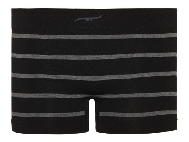 Cueca Boxer Infantil Stripes Sem Costura Preta