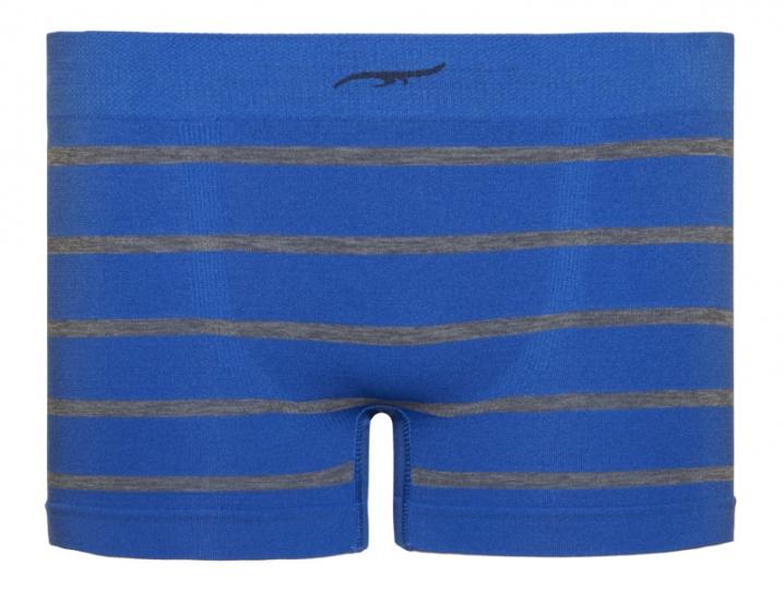 Cueca Boxer Infantil Stripes Sem Costura Azul