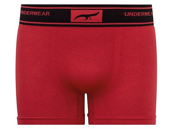 Cueca Boxer Sem Costura Vermelha