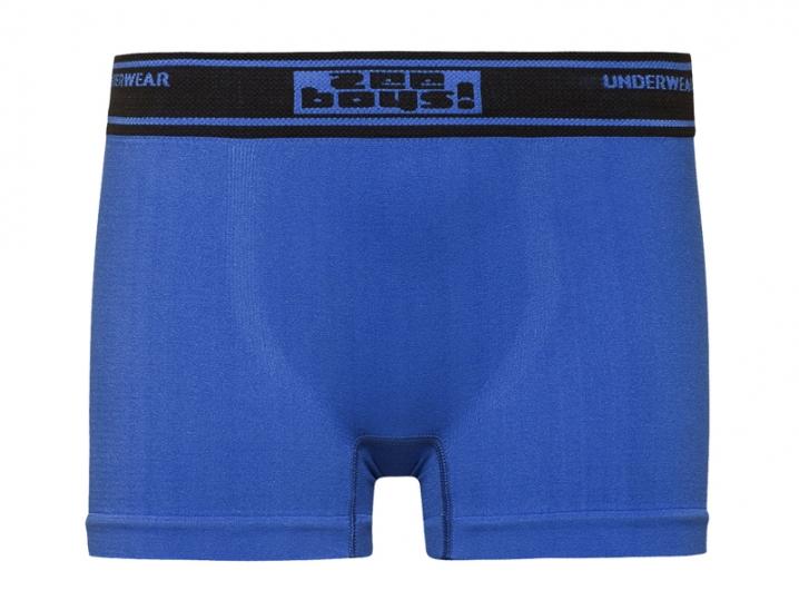Cueca Boxer Infantil Sem Costura Azul