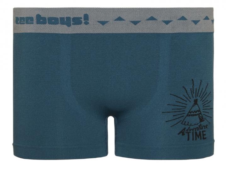 Cueca Boxer Infantil Adventure Sem Costura Azul Esverdeado