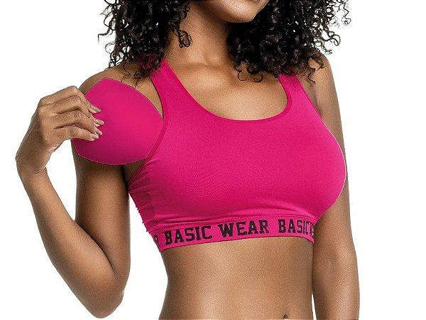 Sutiã Top Basic Wear Pink