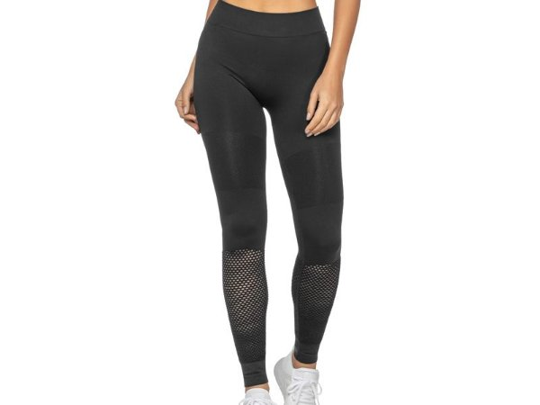 Calça Legging Fitness Sem Costura Black Iris Preta