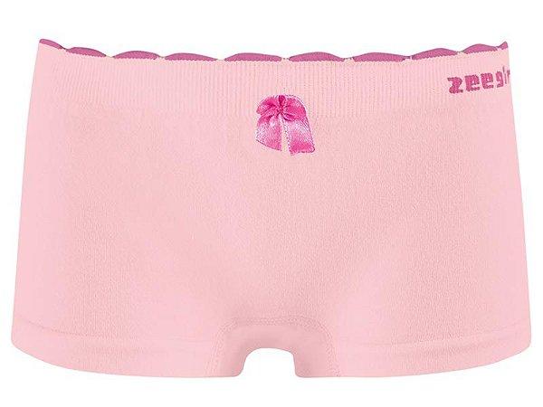 Calcinha Infantil Boxer Algodão Sem Costura Rosa