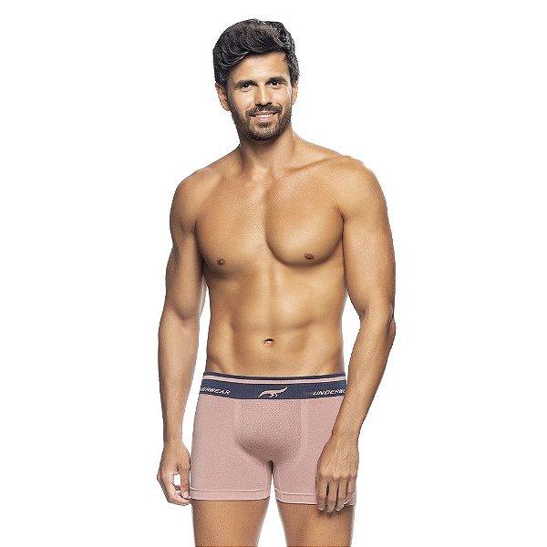 Cueca Boxer Mescla Sem Costura Rosa