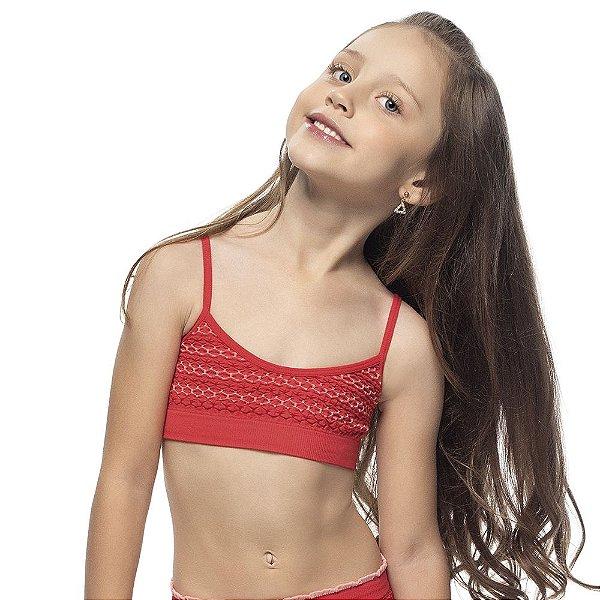 Top Infantil Sem Costura Gerânio