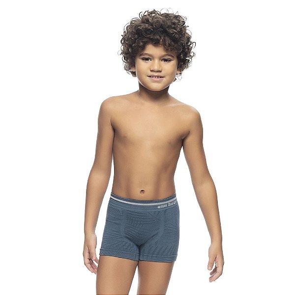 Cueca Boxer Infantil Jacquard Sem Costura Eclipse