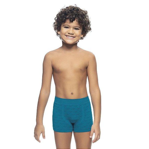 Cueca Boxer Infantil Jacquard Sem Costura Capri