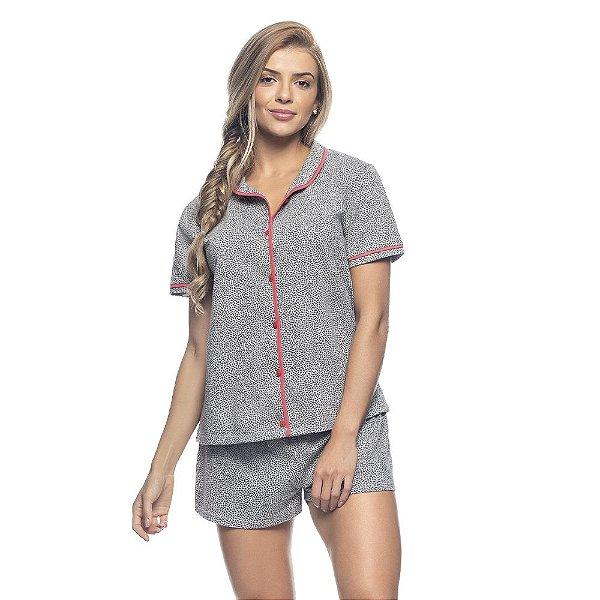 Pijama Aberto e Short Heart Print