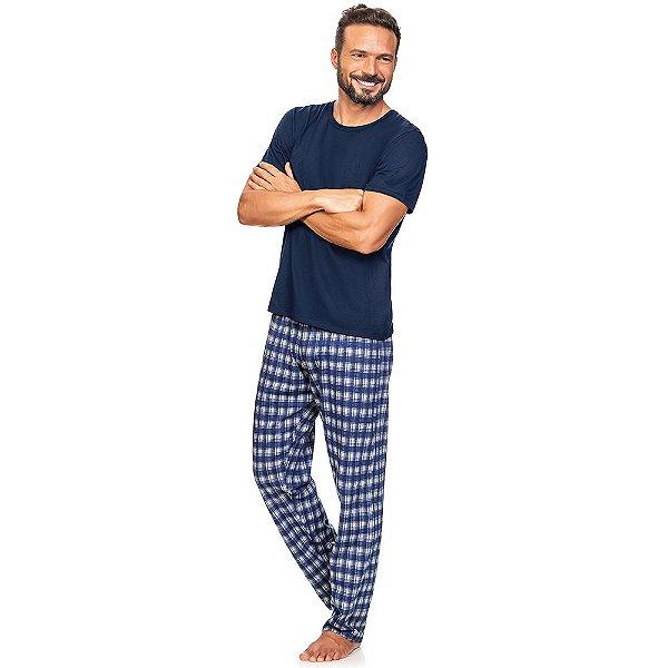 Pijama Blue Checked