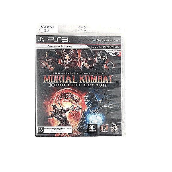 Jogo Mortal Kombat Komplete Edition para PS3