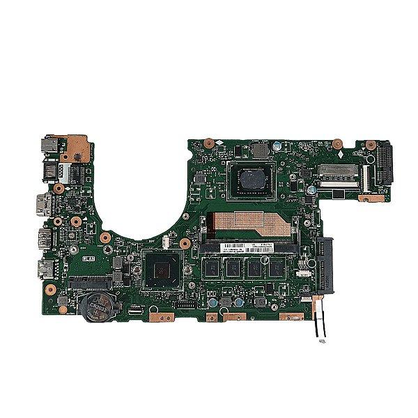 Placa mãe Notebook Asus S400c S400c S400ca, com defeito para retirar peças