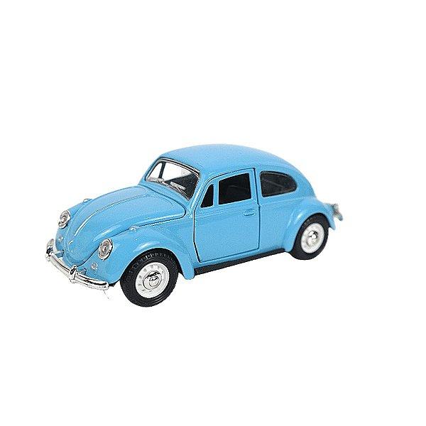 Carrinho de brinquedo Volkswagen Fusca azul