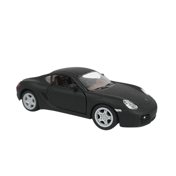 Carrinho de brinquedo Porsche Cayman S preto