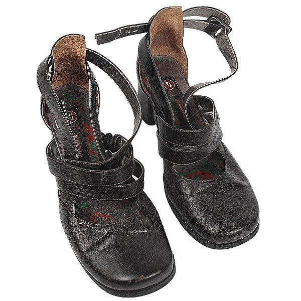 Sapato selo de controle marrom 35